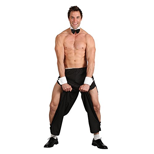 Party Boy Stripper Mens Stag Night Outfit Topless Butler Costume & Thong 4 Sizes (Magic Mike Kostüm)