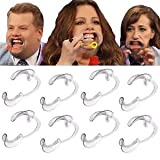 Speak Out Game,Bluester 10pcs C-Shape BlueTeeth Whitening Intraoral Cheek Lip Retractor Mouth Opener,Speak Out Game Toys (M)