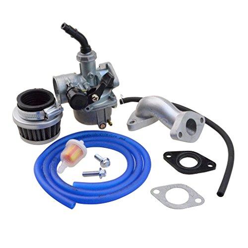 Goofit 19mm Racing Hand Kabel Vergaser Luftfilter Montage Carb Einlass Choke Rohrdichtung Kraftstoffschlauch SUNL Linie 50cc 70-110 125cc ATV Dirt Taotao (blau)