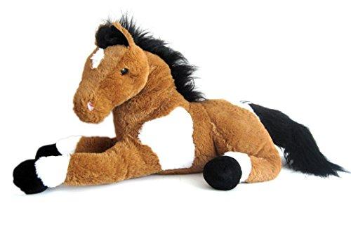 Sweety Toys 5840 Energie Pferd,braun,harmonisierend, mit positiver Energie energetisiert,Stofftier Plüschpferd Fohlen 70cm XXL Pferd Kuscheltier Wohlfühl Plüschtier braun super-süss,kuschelweich Spielzeug - Pferd Stofftier Großes