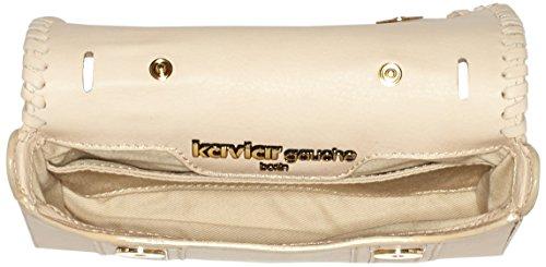 kaviar gauche - Mini Satchel Bag braided, Borsa a tracolla Donna Beige (Beige (nude/gold))