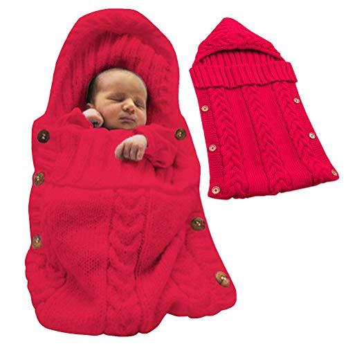 Tomwell sacco a pelo sunroyal sacco a pelo per neonati di viaggio bambino sacco a pelo morbido e comodo coperta per 0 – 12 mesi rosso 72x35 cm