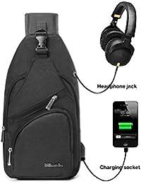 BSTcentelha, zaino a tracolla, per uomo o donna, leggero, per escursionismo e viaggi, con porta di ricarica USB
