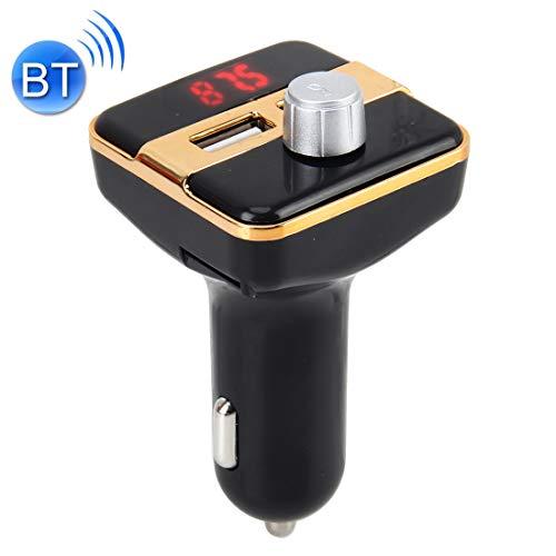 LUOKANGFAN Drahtloses Bluetooth-Headset 2.1A Auto-MP3-Player Multifunktions-Wireless-Auto-FM-Player Auto Dual-USB-Ladegerät mit LED-Bildschirm Unterstützung Hand-Free und TF-Karte Wireless Hands Free-headset