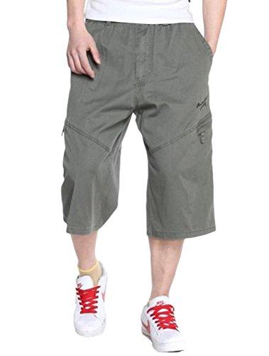 MatchLife Herren Casual Hose Baumwolle Kurze Hose Style1 Armee Grün (Kostüme Grüne Männer Armee)