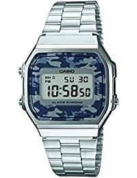 Casio Collection – Reloj Unisex Digital con Correa de Acero Inoxidable – A168WEC-1EF