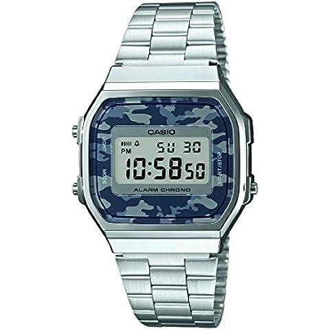 Casio Collection – Orologio Uomo Cinturino in Acciaio Inossidabile A168WEC-1EF - Quadrante Blu Unisex