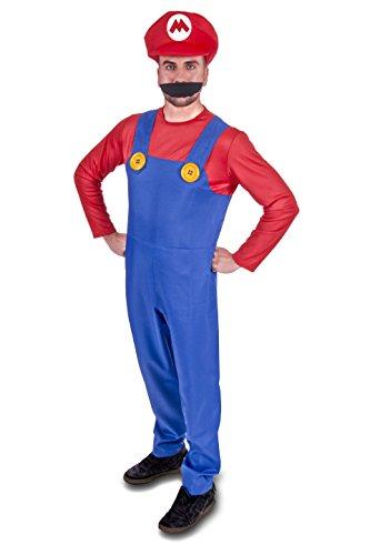Super Klempner Brüder Erwachsene Kostüm (Männer: X-Groß, - Super Mario Und Luigi Kostüm