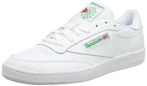 Reebok Club C 85, Sneakers Basses homme - Blanc (Intense-White / Green), 44.5 EU