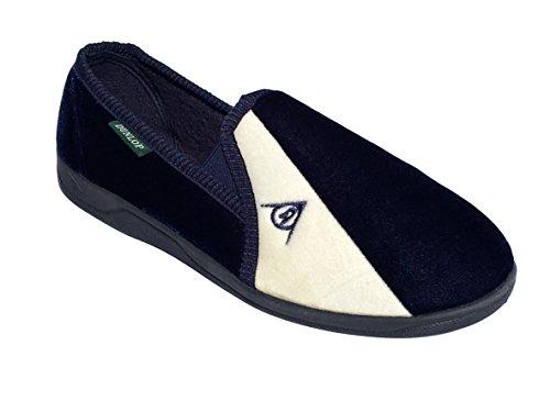 Dunlop - Pantofole elasticizzate modello Winston con tasselli gusset Navy/Cream