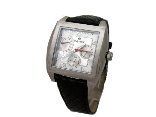 Oskar Emil Monpelier black silver gents Multifunction Watch