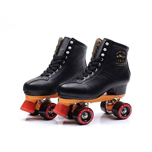 es Zweireihig Verstellbare Größe Roller Skates Quad Stiefel Skating Frauen und Männer, 43 ()