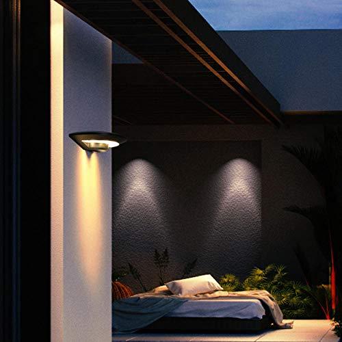 Wandleuchte - moderne wasserdichte Außenleuchte Gartenbalkon Rost moderne minimalistische Innenhofwand Außenwandleuchte@Schwarze Muschel - weißes Licht_2 * 4W -