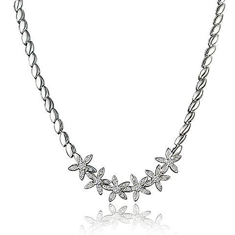 AmberMa Flower Charm Necklace Pendant,Women's Jewellery, Gifts for Women Girls Friends