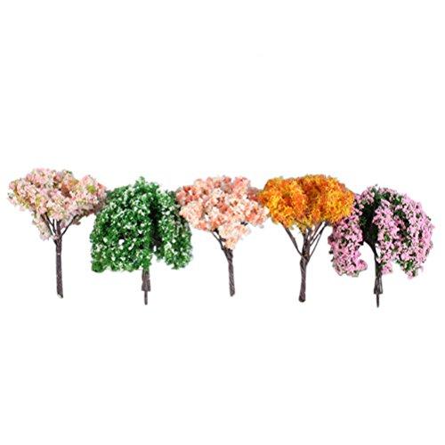 BESTOMZ 16 Stücke Miniatur Fee Garten Baum Pflanze Ornament Miniatur Puppenhaus Töpfe Dekor Moos Bonsai Micro Landschaft DIY Handwerk Garten Ornament