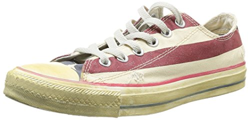 Converse Chuck Taylor All Star Rummage Ox Sneakers Unisex Tessuto Bandiera Americana, Taglia 43