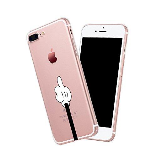 Qissy®TPU Case für iPhone 7 Plus Silikon-Hülle Soft Shell Fall Anti Shock Silikon Anti-Staub-beständig Leichtes Ende mit Glänzende Einzigartiges Persönlichkeitsdesign (iPhone 7 Plus 5,5 Zoll, 3) 14