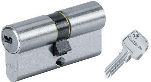 Kd Tür (Abus 27069 Tür-Zylinder/Schloss mit Schlüssel, Vernickelt, 30x35 mm)