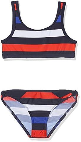 olympia Mädchen Bustier Bikinis - Bikini Kids 34028, Gestreift, Gr.