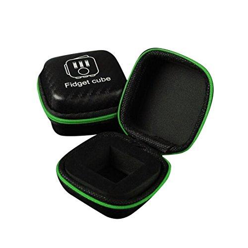 Preisvergleich Produktbild Atdoshop Spielzeug Geschenk, Atdoshop Geschenk für Fidget Cube Angst Aufmerksamkeit Spielzeug Stress Relief Fokus Würfel Tasche Box Tragen Fall Paket (Grün)