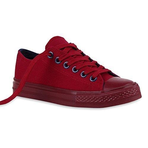 Stiefelparadies - Sneaker Donna Bordeaux Navy