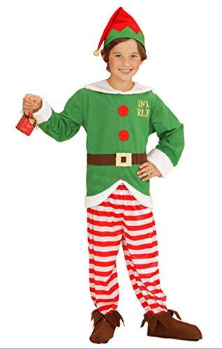 's Little Helper Elf Weihnachten Unisex Fancy Kleid Outfit (Santa ' S Helper Outfit)
