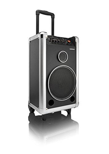 Preisvergleich Produktbild Lenco PA-85 Tragbares Soundsystem mit Bluetooth und Mikrofon, USB / SD, 45 Watt, Gitarreneingang, AUX-Eingang, Mikrofon-Eingang, Line-Ausgang, Equalizer, Netz- oder Batteriebetrieb