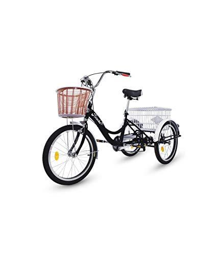 Riscko Triciclo Adulto Dos Cestas Bep-14 Negro Sin