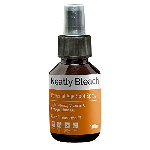 Altersflecken entfernen von Neatly Bleach | 100ml | Anti-Aging Spray | mit Vitamin C | Wunderbare Alternative zu Altersflecken Creme &...