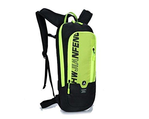 mit dem fahrrad lagerung wassersack rucksack nylon wasserdicht, atmungsaktiv paar freizeitaktivitäten im freien kleinen großen kapazitäten rucksack 5 farben L46x W22 x T7cm Green