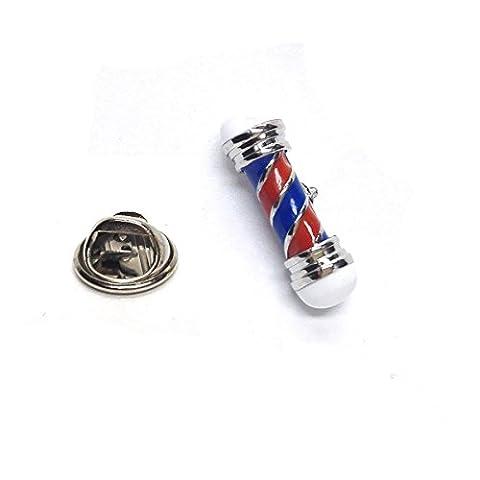 Red & Blue Barbers Pole Lapel Pin Badge X2AJTP498