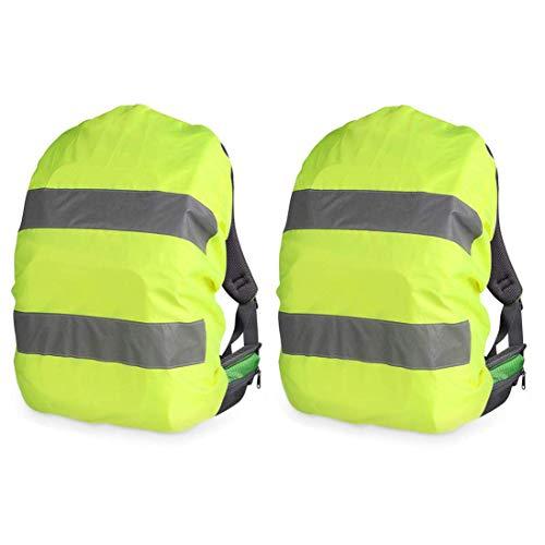Bocotoer Regenschutz reflektierend Rucksack Regenhülle Schutzhülle Schulranzen für Ranzen 54x34 cm Packung mit 2 Stück