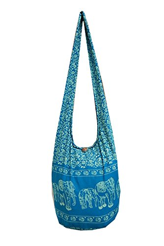 BenThai Products, Borsa a tracolla donna Pink NA4 Blu (Blue EEL3)