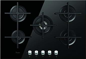 Whirlpool AKT 8000/NB - plaques (Intégré, Gaz, Verre, Noir, Fonte, Rotatif)