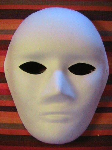 Blank Highbrow 2 Masks - 50 (Halloween Paper Mache Masken)