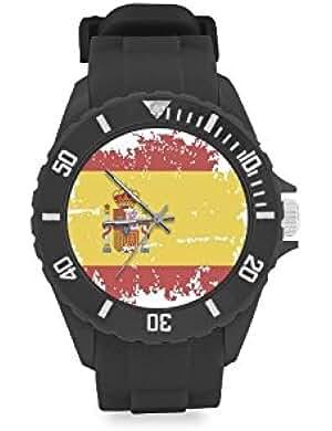 Reloj de pulsera de diseño vintage con bandera de España