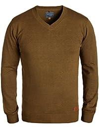 BLEND Lasse Herren Strickpullover Feinstrick Pulli mit V-Ausschnitt aus hochwertiger Baumwollmischung Meliert
