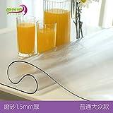 HOMEJYMADE PVC-Transparente tischdecke Rechteck Wasserdicht Wärme kälte resistent Tisch-Abdeckung Holz möbel schutzhülle-B 90x90cm(35x35inch)