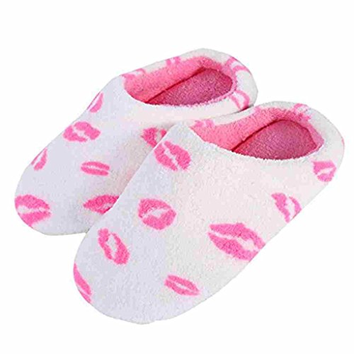 DAYAN Donna Fantasia Scarpe Carino Pantofole Invernali color labbro size S(5-8 anni i bambini)
