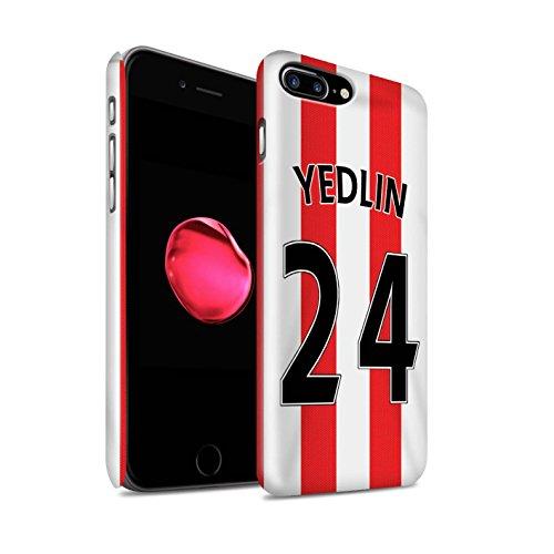 Offiziell Sunderland AFC Hülle / Glanz Snap-On Case für Apple iPhone 7 Plus / Matthews Muster / SAFC Trikot Home 15/16 Kollektion Yedlin