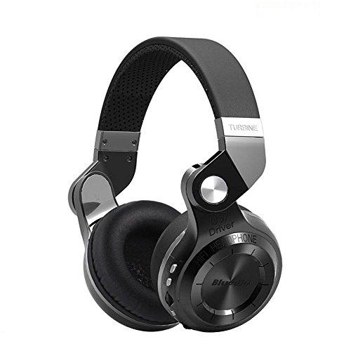 KOBWA Turbine Wireless Bluetooth Kopfhörer,T2 Plus Faltbar HiFi Stereo Kabellos Kopfhörer,mit Built-in Mic / Micro SD Card Slot / FM Radio for Laptop/ IPone, Android Handys/Tablet/TV
