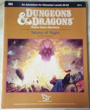 Talons of Night (Dungeons and Dragons Module M5) by Paul Jaquays (December 01,1987) par Paul Jaquays