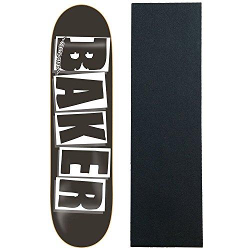 Baker Skateboard Deck Logo Schwarz/Weiß 20,6cm mit Mob Griptape