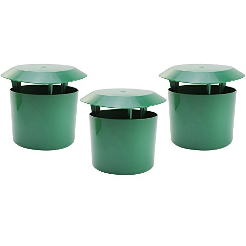com-four® Trampa de Caracoles 3X, Control orgánico de Caracoles de Manera ecológica