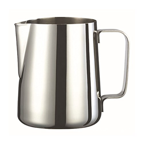 VORCOOL Milchkännchen Aufschäumkännchen Edelstahl 600ml (Silber)