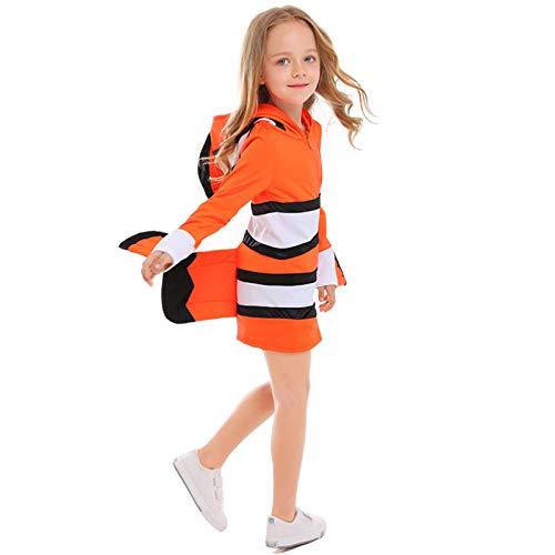 Kostüm Orange Fisch - SJmeet Helloween kostüme für mädchen Kinder Erwachsene Halloween Eltern-Kind Meerestier Kostüme Clown Fisch Kleidung