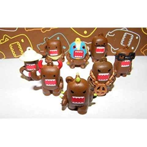 Domo Figure Set of 8 Vending Toys Very Funny by Domofigures