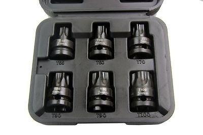 Vorlux 6PC 1/5,1cm Dr impatto Torx bit socket (Dr Torx Socket)