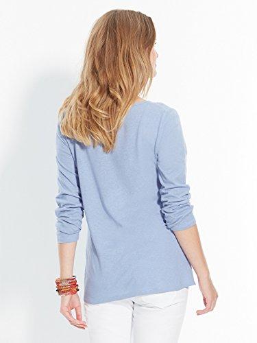 Balsamik - Tee-shirt avec broderies ajourées - femme Bleu jean