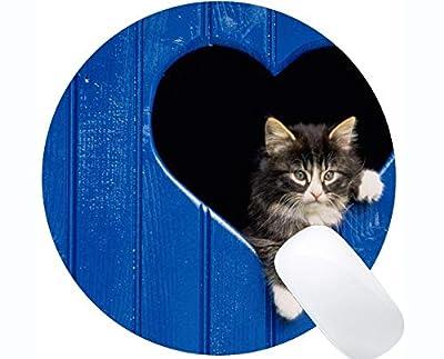 Yanteng Gato en Forma de corazón Oficina en casa Accesorios de Ordenador Alfombrillas 0426-004 de Yanteng